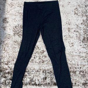 PINK leggings. heather grey.